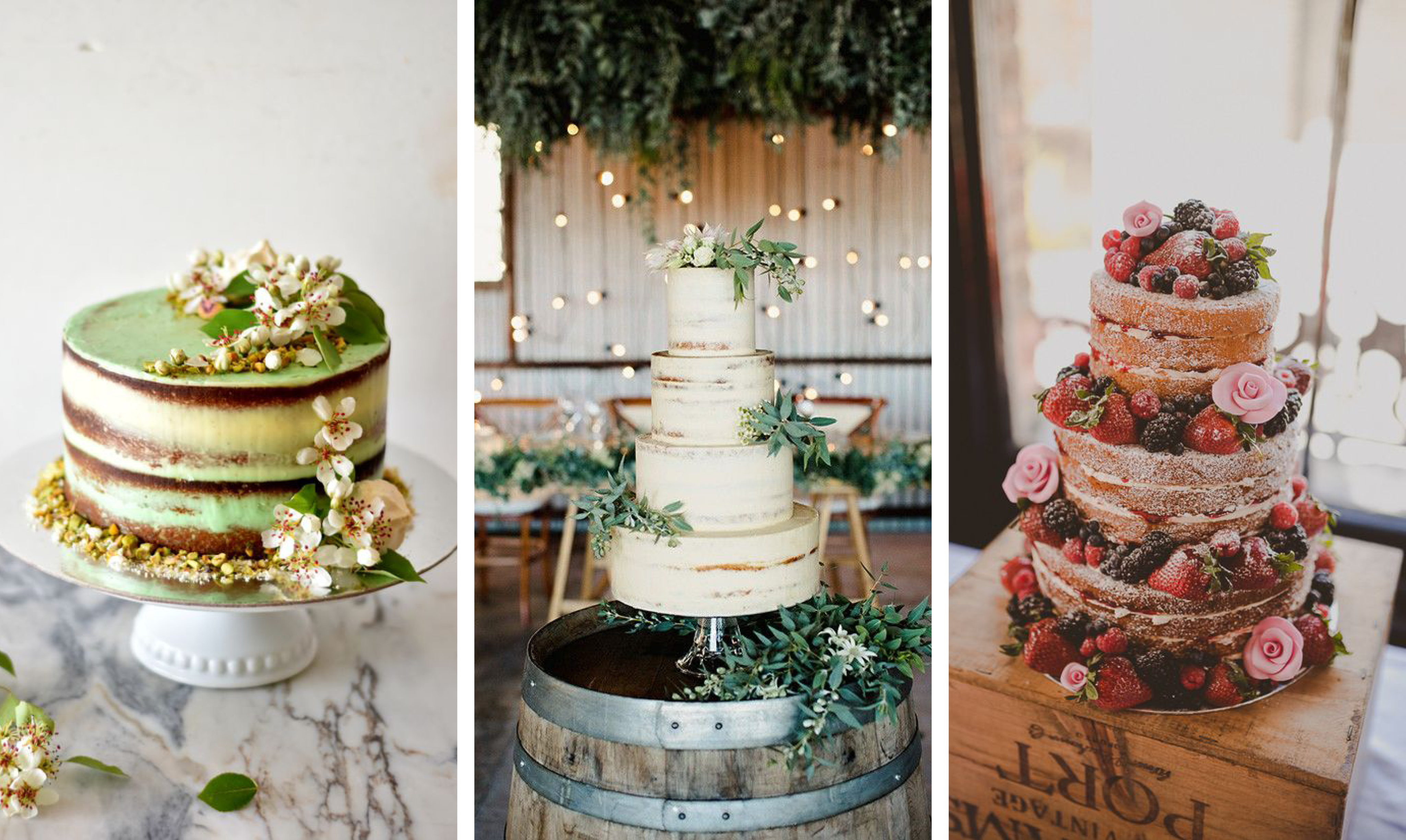 TRENDING: Naked Wedding Cakes – Aime Couture